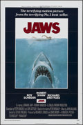 "Movie Posters:Horror, Jaws (Universal, 1975). One Sheet (27"" X 41"") Tri-Folded. Horror.. ..."