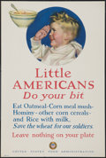 "Movie Posters:War, World War I Propaganda Poster (U.S. Food Administration, 1917).World War I Posters No. 21 (14"" X 21""). ""Little Americans......"