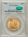 Indian Eagles: , 1932 $10 MS65 PCGS. CAC. PCGS Population (1132/92). NGC Census:(2331/179). Mintage: 4,463,000. Numismedia Wsl. Price for p...