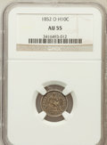Seated Half Dimes: , 1852-O H10C AU55 NGC. NGC Census: (4/24). PCGS Population (7/20).Mintage: 260,000. Numismedia Wsl. Price for problem free ...