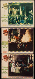 """Movie Posters:Adventure, The Gaucho (United Artists, 1927). Lobby Cards (3) (Trimmed - 10"""" X13"""" & 11"""" X 14""""). Adventure.. ... (Total: 3 Items)"""