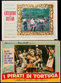 "Movie Posters:Adventure, Adventure Italian Lot #2 (Various, 1950s-1960s). ItalianPhotobustas (4) (18.5"" X 26"", 19.5"" X 27"" & 19.5"" X 28"") &Italian ... (Total: 5 Items)"