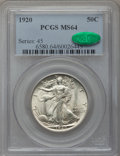 Walking Liberty Half Dollars, 1920 50C MS64 PCGS. CAC....