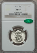 Washington Quarters, 1937 25C MS67 NGC. CAC....