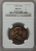 Franklin Half Dollars, 1958-D 50C MS67 ★ NGC....