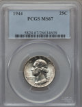 Washington Quarters, 1944 25C MS67 PCGS....