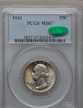 Washington Quarters, 1942 25C MS67 PCGS. CAC....