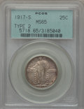 Standing Liberty Quarters, 1917-S 25C Type Two MS65 PCGS....