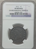 Large Cents: , 1812 1C Small Date -- Environmental Damage -- NGC Details. XF. NGCCensus: (20/86). PCGS Population (25/63). Mintage: 1,075...