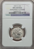 Barber Quarters: , 1899-O 25C -- Improperly Cleaned -- NGC Details. Unc. NGC Census:(0/62). PCGS Population (2/86). Mintage: 2,644,000. Numis...