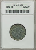 Half Cents: , 1829 1/2 C MS60 Brown ANACS. NGC Census: (1/139). PCGS Population(5/93). Mintage: 487,000. Numismedia Wsl. Price for probl...