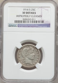 Barber Quarters: , 1914-S 25C -- Improperly Cleaned -- NGC Details. XF. NGC Census:(1/57). PCGS Population (12/87). Mintage: 264,000. Numisme...