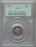 Proof Three Cent Nickels: , 1888 3CN PR64 PCGS. PCGS Population (361/594). NGC Census:(240/547). Mintage: 4,582. Numismedia Wsl. Price for problem fre...