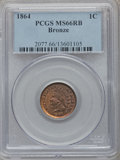 Indian Cents: , 1864 1C Bronze No L MS66 Red and Brown PCGS. PCGS Population(25/0). NGC Census: (68/5). Mintage: 39,233,712. Numismedia Ws...