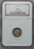 Proof Three Cent Nickels: , 1888 3CN PR66 NGC. NGC Census: (163/18). PCGS Population (169/23).Mintage: 4,582. Numismedia Wsl. Price for problem free N...
