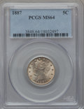 Liberty Nickels: , 1887 5C MS64 PCGS. PCGS Population (205/127). NGC Census: (159/93).Mintage: 15,263,652. Numismedia Wsl. Price for problem ...