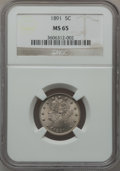 Liberty Nickels: , 1891 5C MS65 NGC. NGC Census: (64/14). PCGS Population (83/20).Mintage: 16,834,350. Numismedia Wsl. Price for problem free...