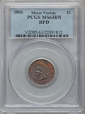 Indian Cents: , 1866 1C MS63 Brown PCGS. RPD, Minor Variety. PCGS Population(50/69). NGC Census: (68/115). Mintage: 9,826,500. Numismedia ...