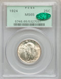 Standing Liberty Quarters: , 1924 25C MS65 PCGS. CAC. PCGS Population (125/31). NGC Census:(103/74). Mintage: 10,920,000. Numismedia Wsl. Price for pro...