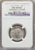 Standing Liberty Quarters, 1917-S 25C Type One -- Improperly Cleaned -- NGC Details. Unc. NGCCensus: (0/166). PCGS Population (3/312). Mintage: 1,952...
