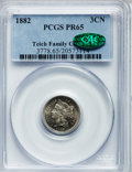 1882 3CN PR65 PCGS. CAC. PCGS Population (326/368). NGC Census: (292/341). Mintage: 3,100. Numismedia Wsl. Price for pro...