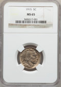 Buffalo Nickels: , 1915 5C MS65 NGC. NGC Census: (298/86). PCGS Population (440/277).Mintage: 20,987,270. Numismedia Wsl. Price for problem f...