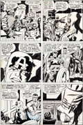Original Comic Art:Panel Pages, Jack Kirby and Frank Giacoia Captain America #199 Page 7 Original Art (Marvel, 1976)....