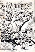 Original Comic Art:Covers, John Buscema and George Roussos The Avengers #55 Masters ofEvil Cover Original Art (Marvel, 1968)....