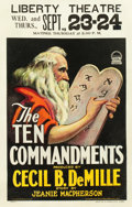 "Movie Posters:Drama, The Ten Commandments (Paramount, 1923). Window Card (14"" X 22"")....."