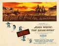 "Movie Posters:Western, The Searchers (Warner Brothers, 1956). Half Sheet (22"" X 28"").. ..."