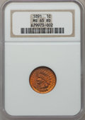 Indian Cents: , 1891 1C MS65 Red NGC. NGC Census: (38/3). PCGS Population (67/8).Mintage: 47,072,352. Numismedia Wsl. Price for problem fr...