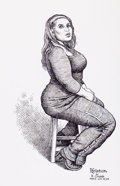 "Original Comic Art:Sketches, Robert Crumb ""Kristen"" Sketch Original Art (2005)...."