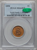 Indian Cents: , 1898 1C MS64 Red and Brown PCGS. CAC. PCGS Population (281/54). NGCCensus: (191/140). Mintage: 49,823,080. Numismedia Wsl....