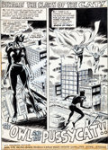 Original Comic Art:Panel Pages, Marie Severin and Jim Mooney The Cat #2 Title Page 1Original Art (Marvel, 1973)....