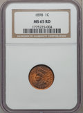 Indian Cents: , 1898 1C MS65 Red NGC. NGC Census: (61/34). PCGS Population(106/61). Mintage: 49,823,080. Numismedia Wsl. Price for problem...
