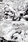 Original Comic Art:Panel Pages, Gene Colan and Dan Adkins Sub-Mariner #10 Karthon Page 3Original Art (Marvel, 1969)....