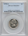 Jefferson Nickels: , 1970-S 5C MS65 Full Steps PCGS. PCGS Population (18/2). NGC Census:(1/3). Numismedia Wsl. Price for problem free NGC/PCGS...