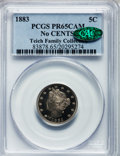 Proof Liberty Nickels: , 1883 5C No Cents PR65 Cameo PCGS. CAC. PCGS Population (92/76). NGCCensus: (69/78). . From The Teich Family Collection....