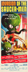 "Movie Posters:Science Fiction, Invasion of the Saucer-Men (American International, 1957). Insert(14"" X 36"").. ..."