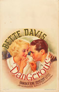 "Movie Posters:Drama, Dangerous (Warner Brothers, 1935). Window Card (14"" X 22"").. ..."