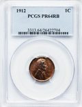 Proof Lincoln Cents: , 1912 1C PR64 Red and Brown PCGS. PCGS Population (108/55). NGCCensus: (33/39). Mintage: 2,172. Numismedia Wsl. Price for p...