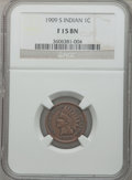 Indian Cents: , 1909-S 1C Fine 15 NGC. NGC Census: (141/1429). PCGS Population(289/2346). Mintage: 309,000. Numismedia Wsl. Price for prob...