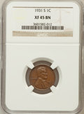 Lincoln Cents: , 1931-S 1C XF45 NGC. NGC Census: (296/609). PCGS Population(533/937). Mintage: 866,000. Numismedia Wsl. Price for problem f...
