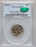 Buffalo Nickels: , 1929-S 5C MS65 PCGS. CAC. PCGS Population (486/175). NGC Census:(192/50). Mintage: 7,754,000. Numismedia Wsl. Price for pr...