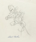 Original Comic Art:Miscellaneous, Carl Barks Donald Duck Preliminary Original Art (undated)....