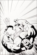 Original Comic Art:Covers, Steve Scott and Jay Leisten Marvel Adventures Hulk #9 CoverOriginal Art (Marvel, 2008)....