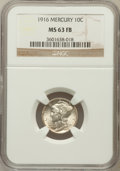 Mercury Dimes: , 1916 10C MS63 Full Bands NGC. NGC Census: (222/1659). PCGSPopulation (515/2578). Mintage: 22,180,080. Numismedia Wsl. Pric...