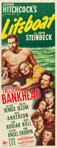 "Movie Posters:Hitchcock, Lifeboat (20th Century Fox, 1944). Insert (14"" X 36"").. ..."