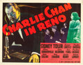 "Movie Posters:Mystery, Charlie Chan in Reno (20th Century Fox, 1939). Half Sheet (22"" X28"") Style B.. ..."