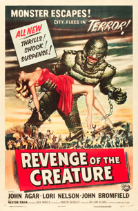 "Revenge of the Creature (Universal International, 1955). One Sheet (27"" X 41"")"
